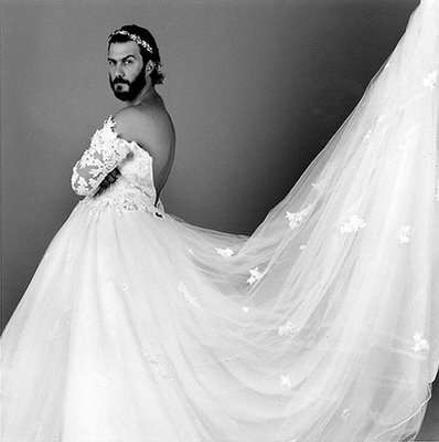 Wedding dresses: men wearing wedding dress